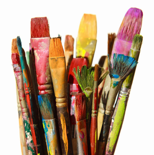 PA Day paint brushes